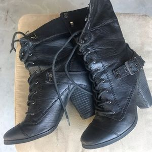 Bakers Lace Up Biker Boots size 7M